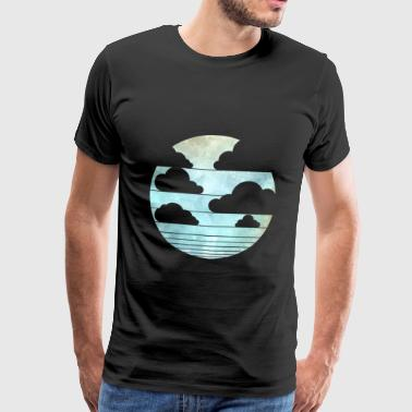 Moon with clouds - Men's Premium T-Shirt