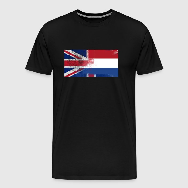 British Dutch Half Netherlands Half UK Flag - Men's Premium T-Shirt