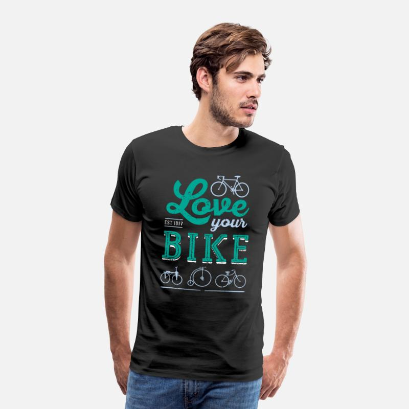 Cycling T-Shirts - Love your BIKE - Men's Premium T-Shirt black