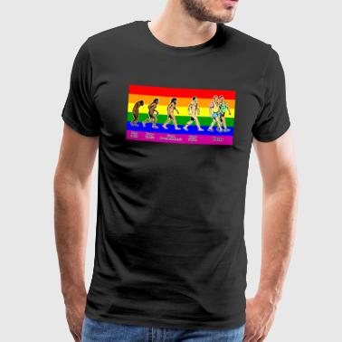 Homo gay colors - Premium T-skjorte for menn