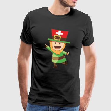 Goblin fable Leprechaun flag Swiss gift - Men's Premium T-Shirt