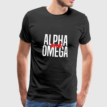 Alpha and Omega Christliches design - Männer Premium T-Shirt