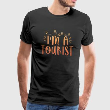 Saying Holiday Gift Tourist Summer Backpacker - Mannen Premium T-shirt