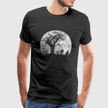Moon cemetery zombie from the burial - Men's Premium T-Shirt