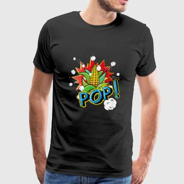 Corncob in pop art style - Premium T-skjorte for menn