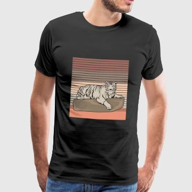 Comic Tiger Chill - Männer Premium T-Shirt