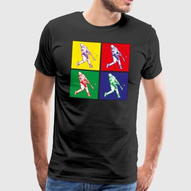Pop art baseball hit - Men's Premium T-Shirt