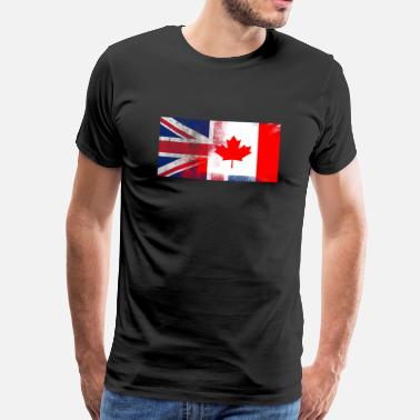 Canadian Flag British Canadian Half Canada Half UK Flag - Men's Premium T-Shirt