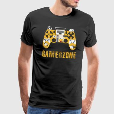 gamer zone - Herre premium T-shirt