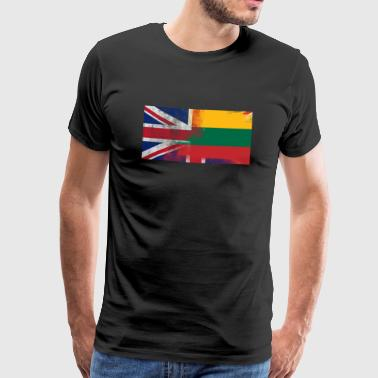 British Lithuanian Half Lithuania Half UK Flag - Men's Premium T-Shirt