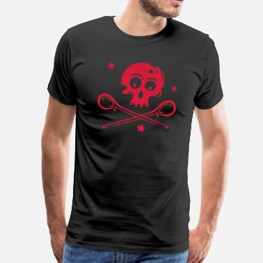 Spoon Skull with spoons and stars. - Men's Premium T-Shirt