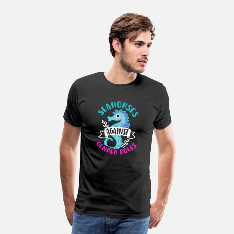 Sex T-Shirts - Seahorses against Gender Roles - Men's Premium T-Shirt black