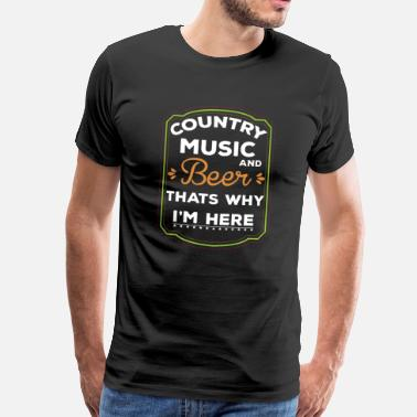 County County Music and Beer Shirt - Men's Premium T-Shirt