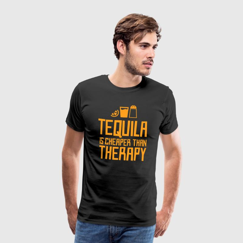 Tequila is cheaper than therapy - Men's Premium T-Shirt