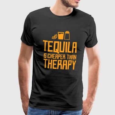 Tequila er billigere end behandling - Herre premium T-shirt