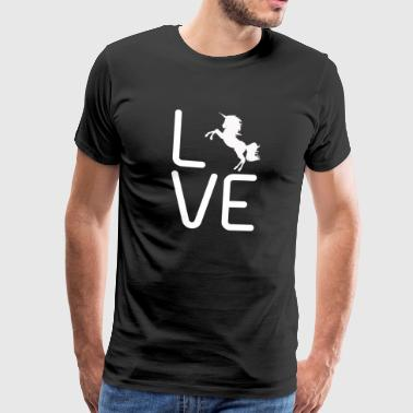 LOVE UNICORN - Männer Premium T-Shirt