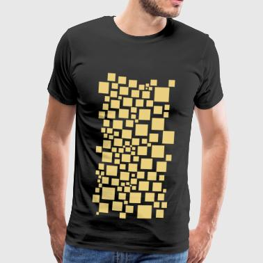 Rectangle Scattered rectangles - Men's Premium T-Shirt