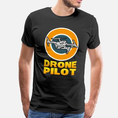 Drone Drone Pilot Drone Quadrocopter Copter Gave - Herre premium T-shirt