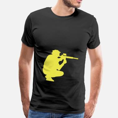 Sniper Rifle weapon sniper rifle soldier - Men's Premium T-Shirt