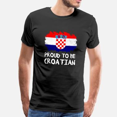 Sahovnica Länder Proud to be Croatian - Männer Premium T-Shirt