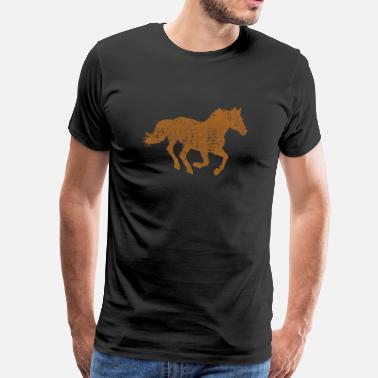 Gallop Horse Vintage Retro Old School Riding Shirt - Men's Premium T-Shirt
