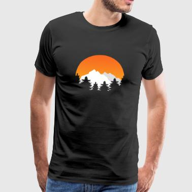 Rocky Mountains SUNSET MOUNTAINS - Männer Premium T-Shirt