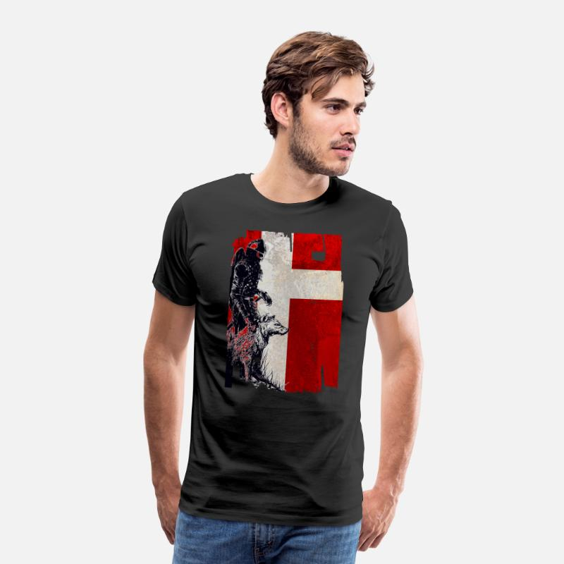Viking T-shirt - Viking Wolf Danmark - Herre premium T-shirt sort
