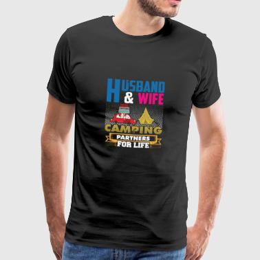 Spouse Camping Shirt & Gift Idea - Men's Premium T-Shirt