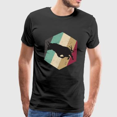 Old School Retro Bull - Mannen Premium T-shirt