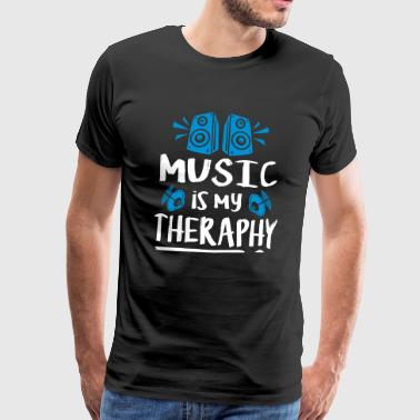 music is my theraphy - Men's Premium T-Shirt