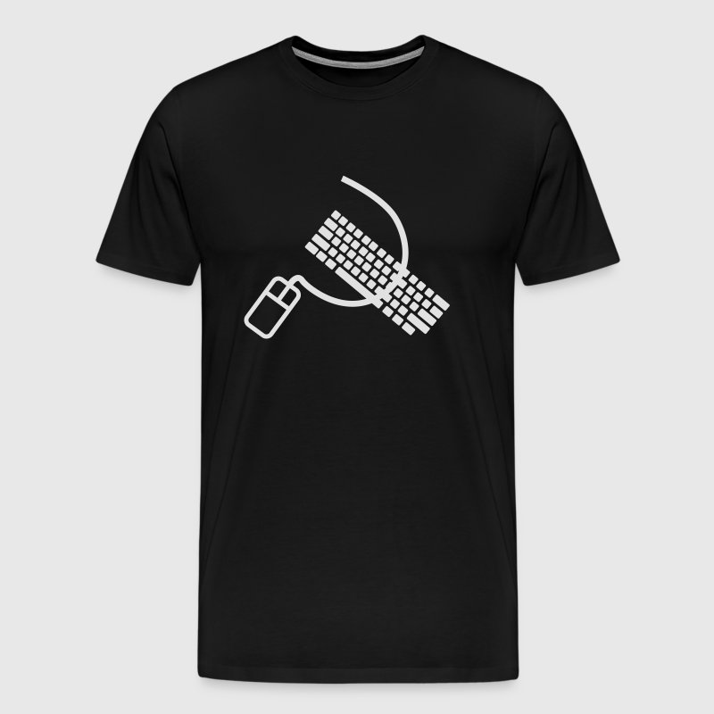 Mouse and keyboard like hammer and sickle - Men's Premium T-Shirt