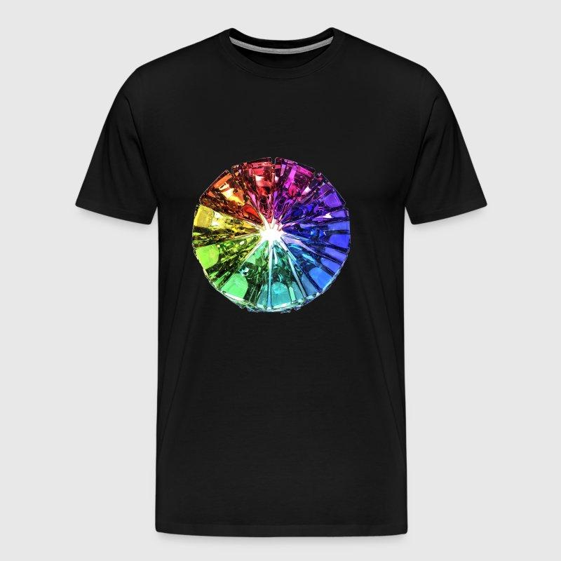Farverig sten Herre premium T shirt forvasket bordeaux