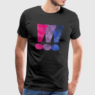 Exclamation Mark Bisexual Pride Exclamation Points - Men's Premium T-Shirt