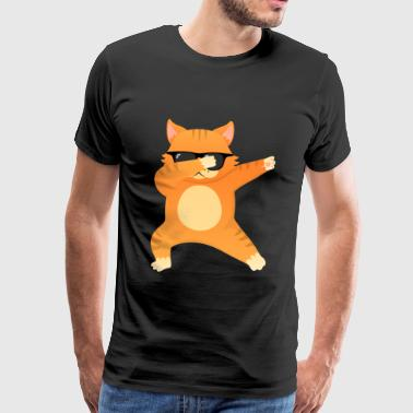 Cat With Sunglasses Dab Dance - Cool Gift - Männer Premium T-Shirt