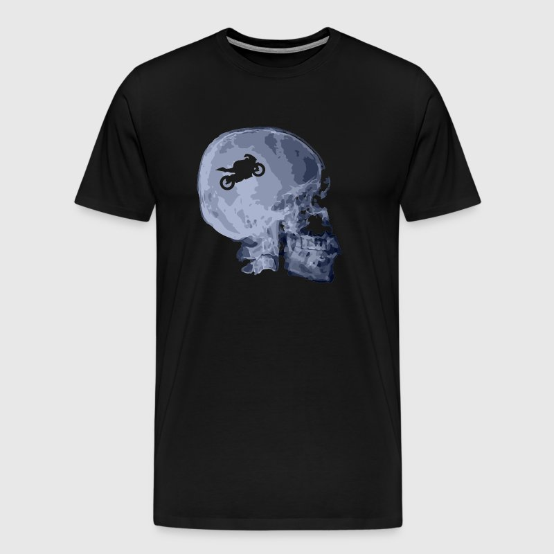 X Motorcycle Skull - Men's Premium T-Shirt