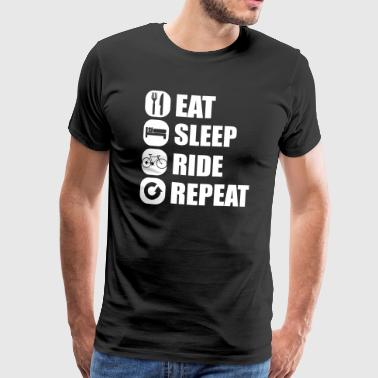 eat_sleep_ride_repeat_8_1f - T-shirt Premium Homme