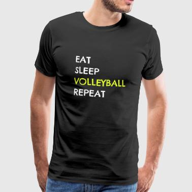 Volleyballer Team Volleyball Lustig Spruch - Männer Premium T-Shirt