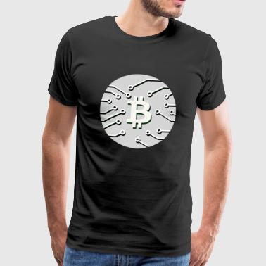 Bitcoin BTC cryptocurrency gift idea nerd - Men's Premium T-Shirt