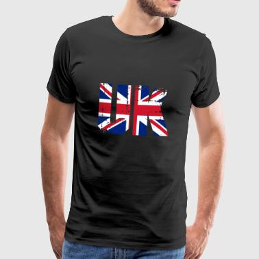 Tower Bridge England Großbritannien UK Flagge Land London - Männer Premium T-Shirt