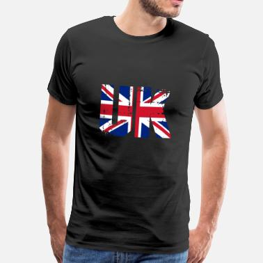 Bridge England Storbritannien Storbritannien Flag Land London - Herre premium T-shirt