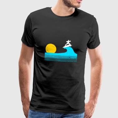Sun Sea Surf Surfing water sea hobby waves surfboard sun - Men's Premium T-Shirt