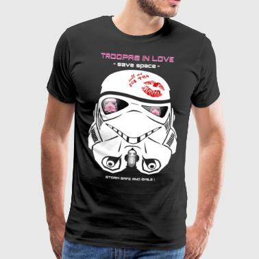 Stromtrooper in Love - Smiling Troopa - save space - Männer Premium T-Shirt
