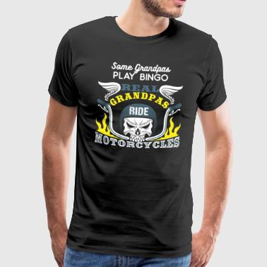 Real Grandpas Ride Motorcycles - Biker Grandpa Retiree - Mannen Premium T-shirt