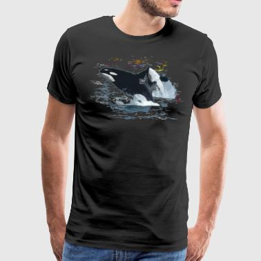 Orca killer whale - Men's Premium T-Shirt
