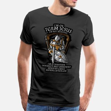 Knight Knight Templar Crusader Shirt - I'm on Team Jesus - Men's Premium T-Shirt