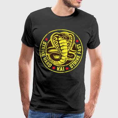 Cobra Cobra strike hard kai strike fast no mercy karate - Men's Premium T-Shirt