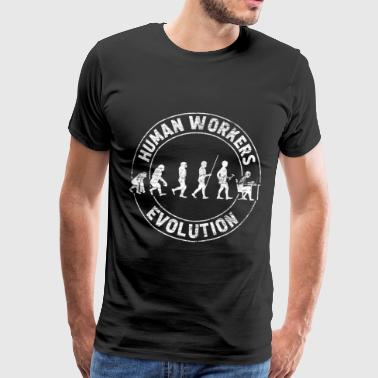 Evolution of work - Men's Premium T-Shirt