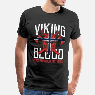 Oslo Norvège Oslo nord hiver glace viking - T-shirt Premium Homme