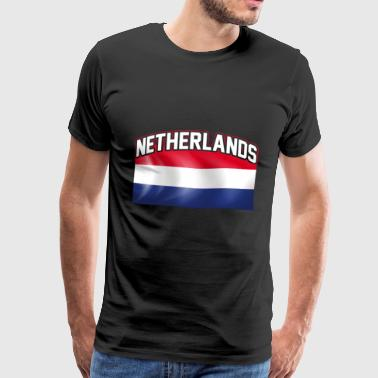 Netherlands flag nation Dutch country - Men's Premium T-Shirt