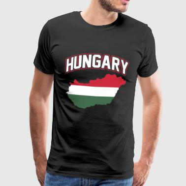 Ungarns hjem patriotisme Orban nation flag - Herre premium T-shirt